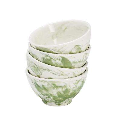 Green Marble Bowl (Set of 4)