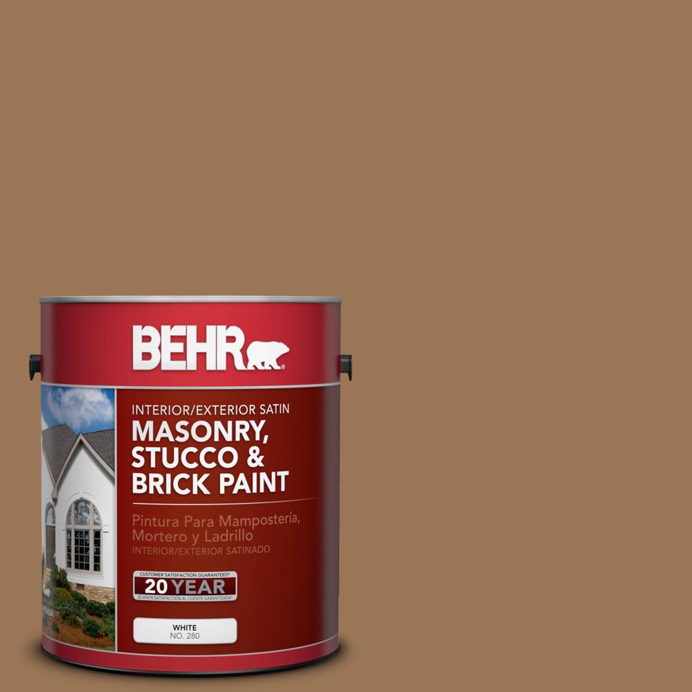 1 gal. #PPU4-2 Coco Rum Satin Interior/Exterior Masonry, Stucco and Brick Paint
