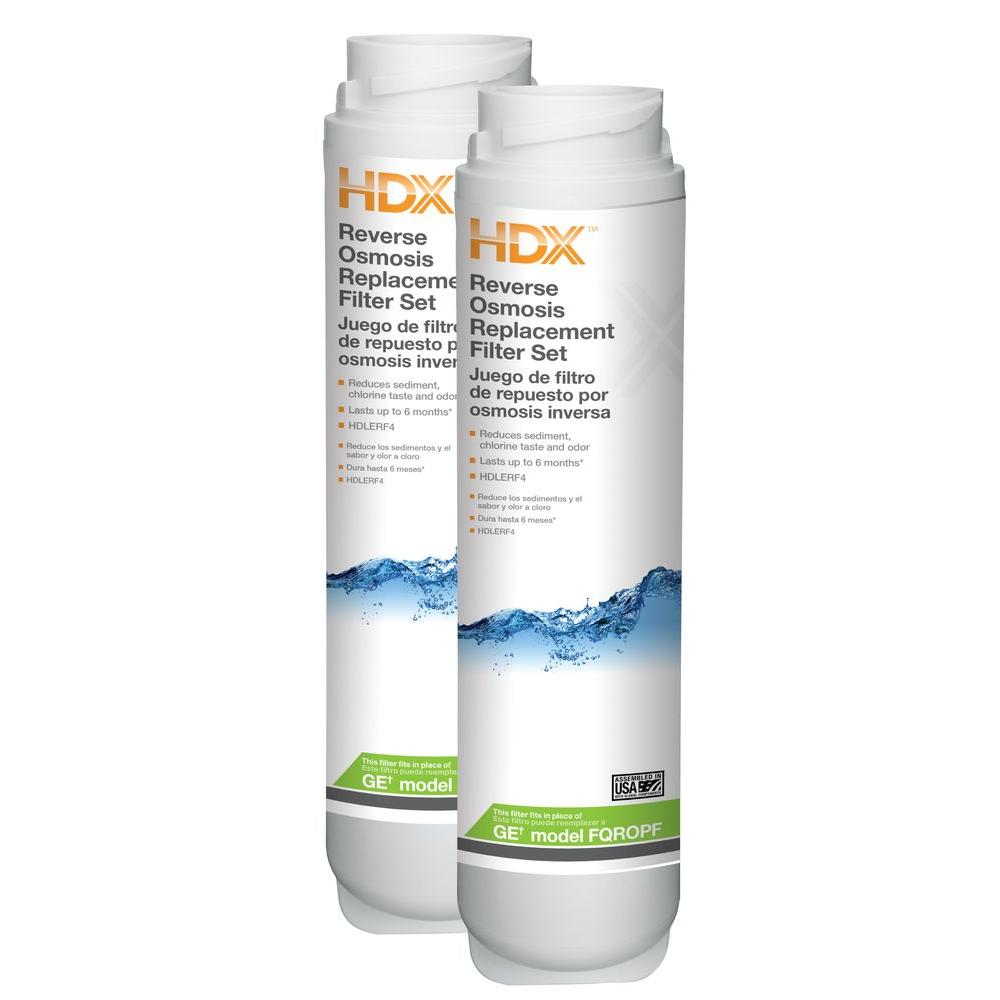 Hdx reverse osmosis replacement water filter set fits ge - Filtros de osmosis ...