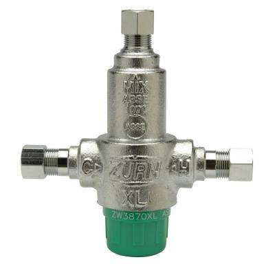 3/8 in. Lead-Free Aqua-Gard Thermostatic Mixing Valve with 3 Port