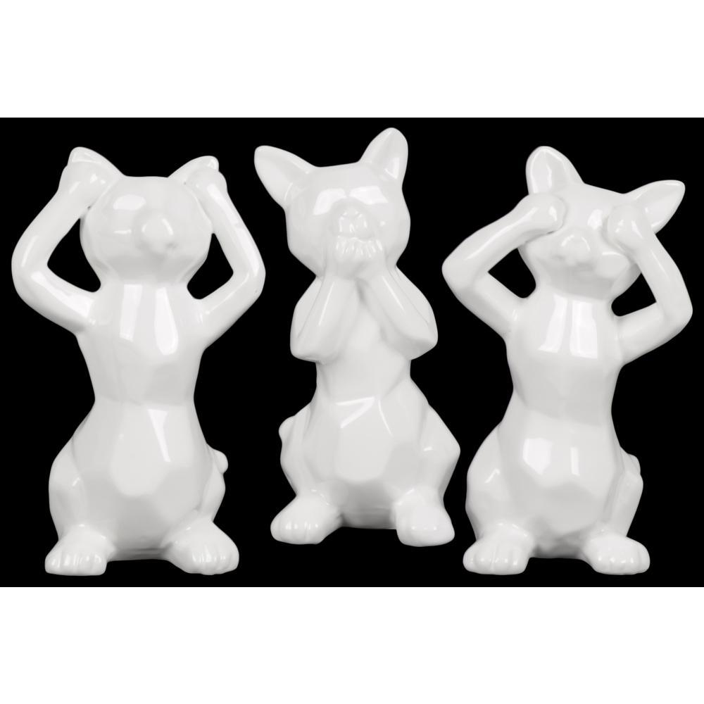11.50 in. H Figurine Decorative Sculpture in White Gloss
