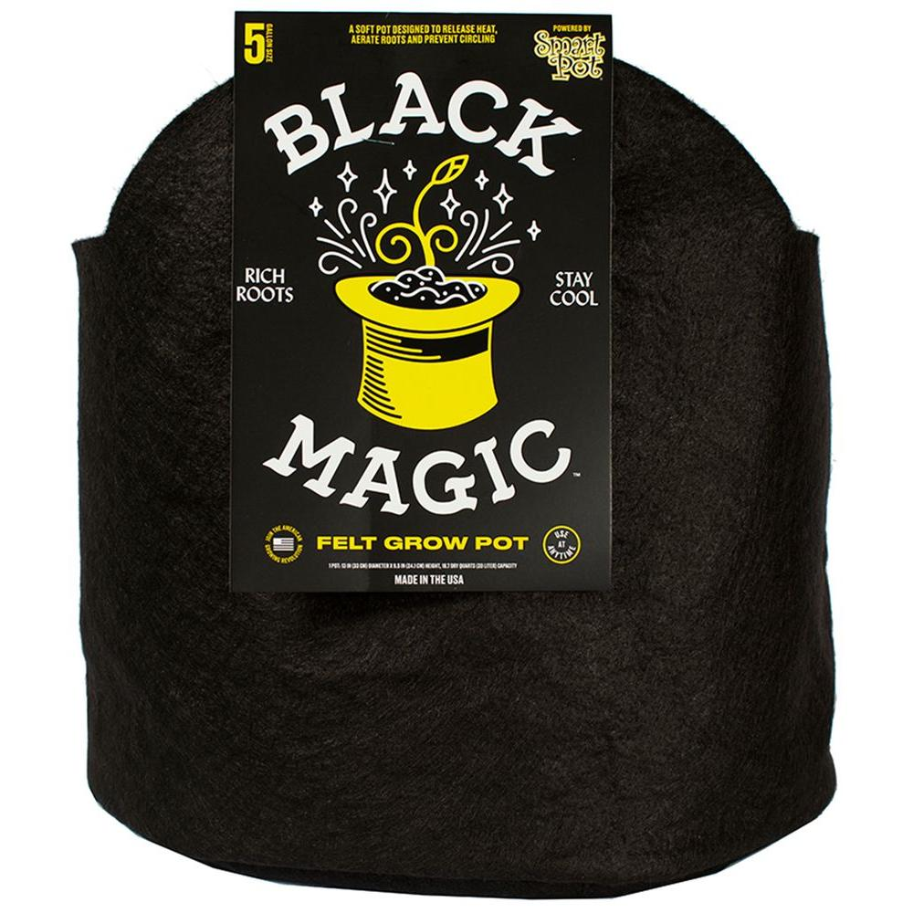 Black Magic 12 in. W x 12 in. H Felt Grow Pot