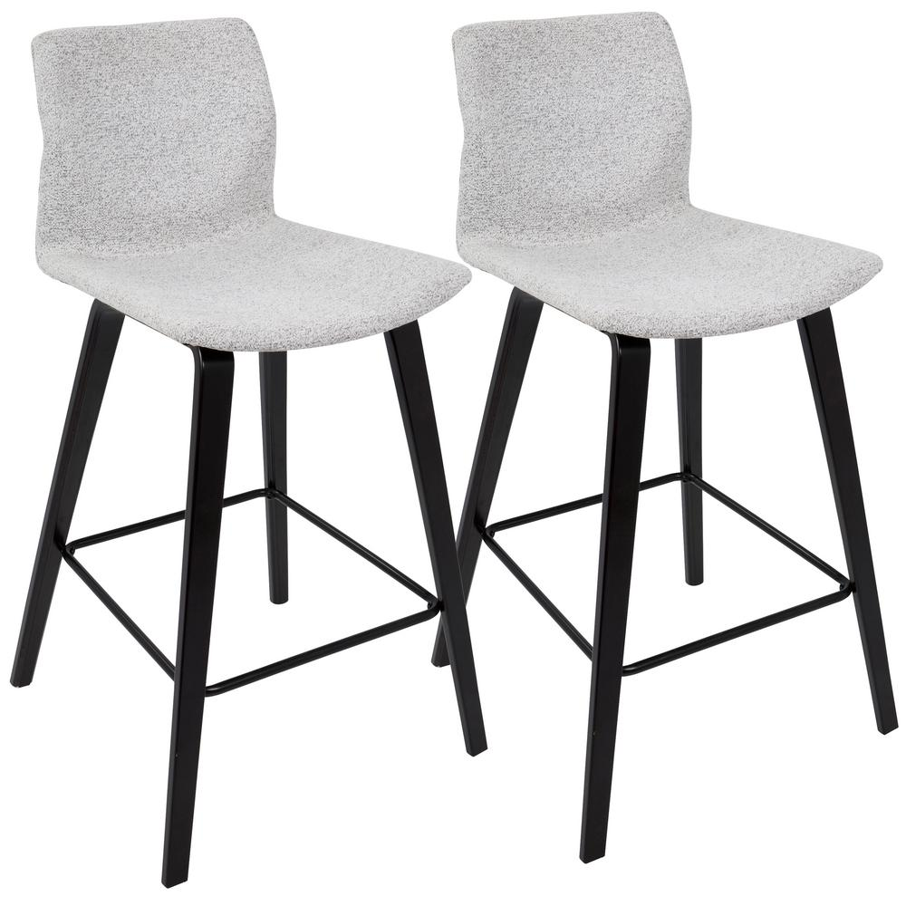 gray counter stools. Lumisource Cabo Mid-Century Modern Espresso And Light Grey Fabric Counter Stool (Set Of Gray Stools K