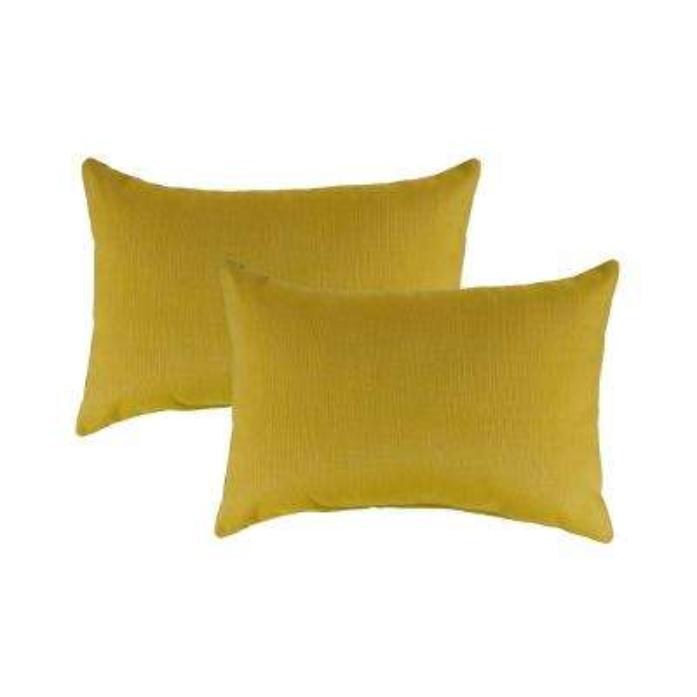 Sunbrella Echo Citron Boudoir Outdoor Pillow (Set of 2)