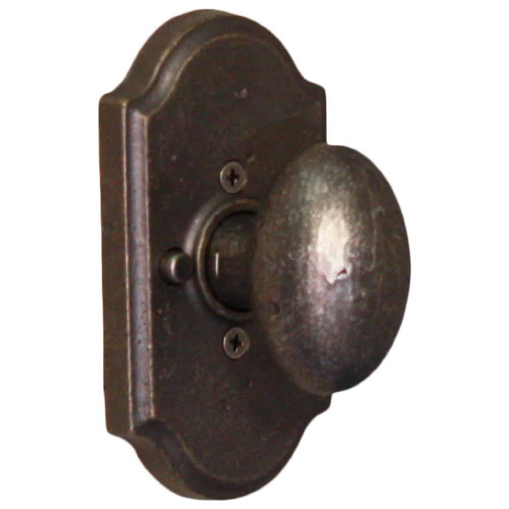 Weslock Molten Bronze Weathered Pewter Premiere Privacy Durham Knob-DISCONTINUED
