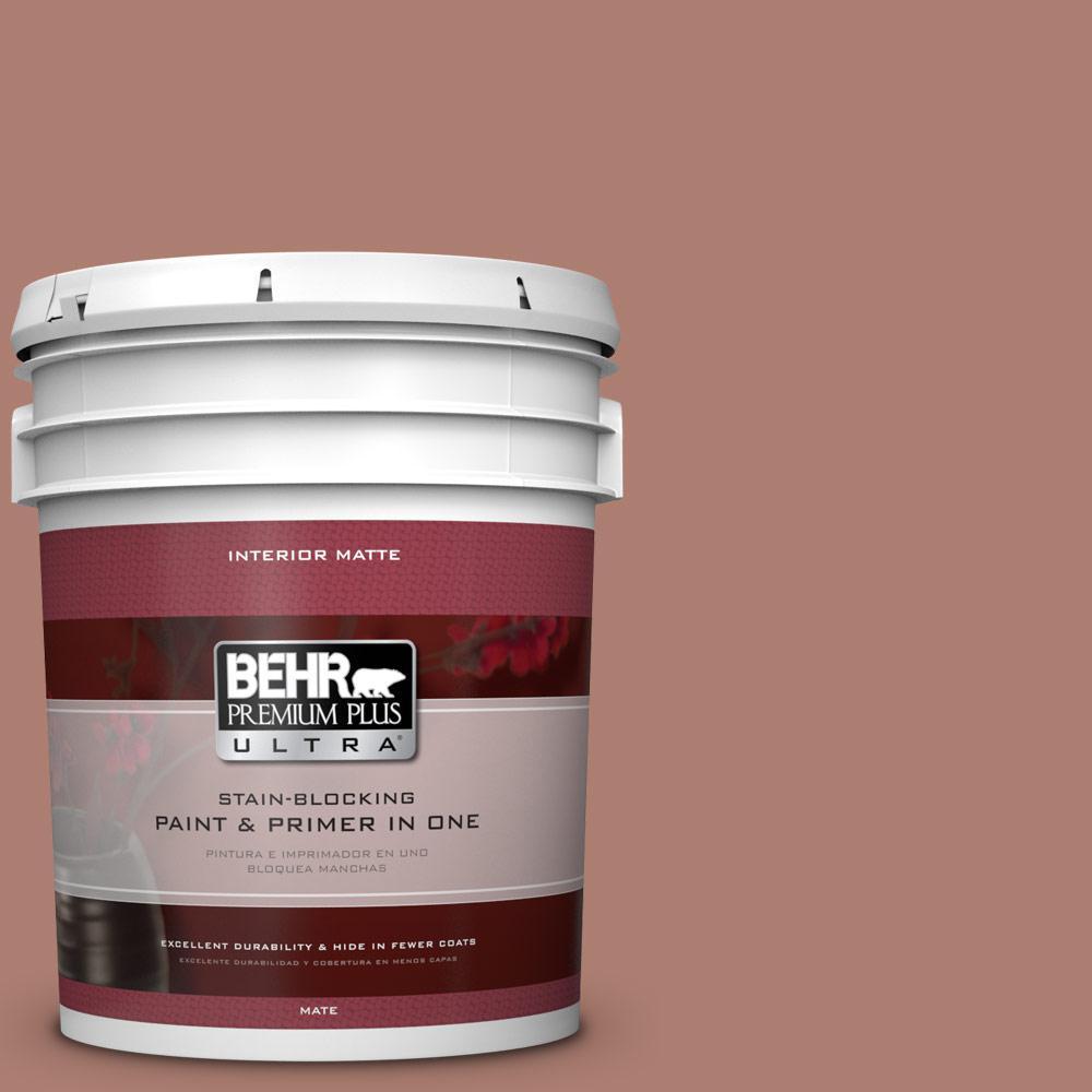 BEHR Premium Plus Ultra 5 gal. #PPU2-11 Mars Red Flat/Matte Interior Paint