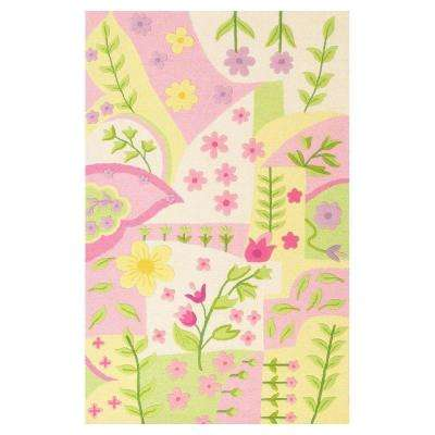 Princess Rug Pink/Multi 5 ft. x 7 ft. 6 in. Area Rug