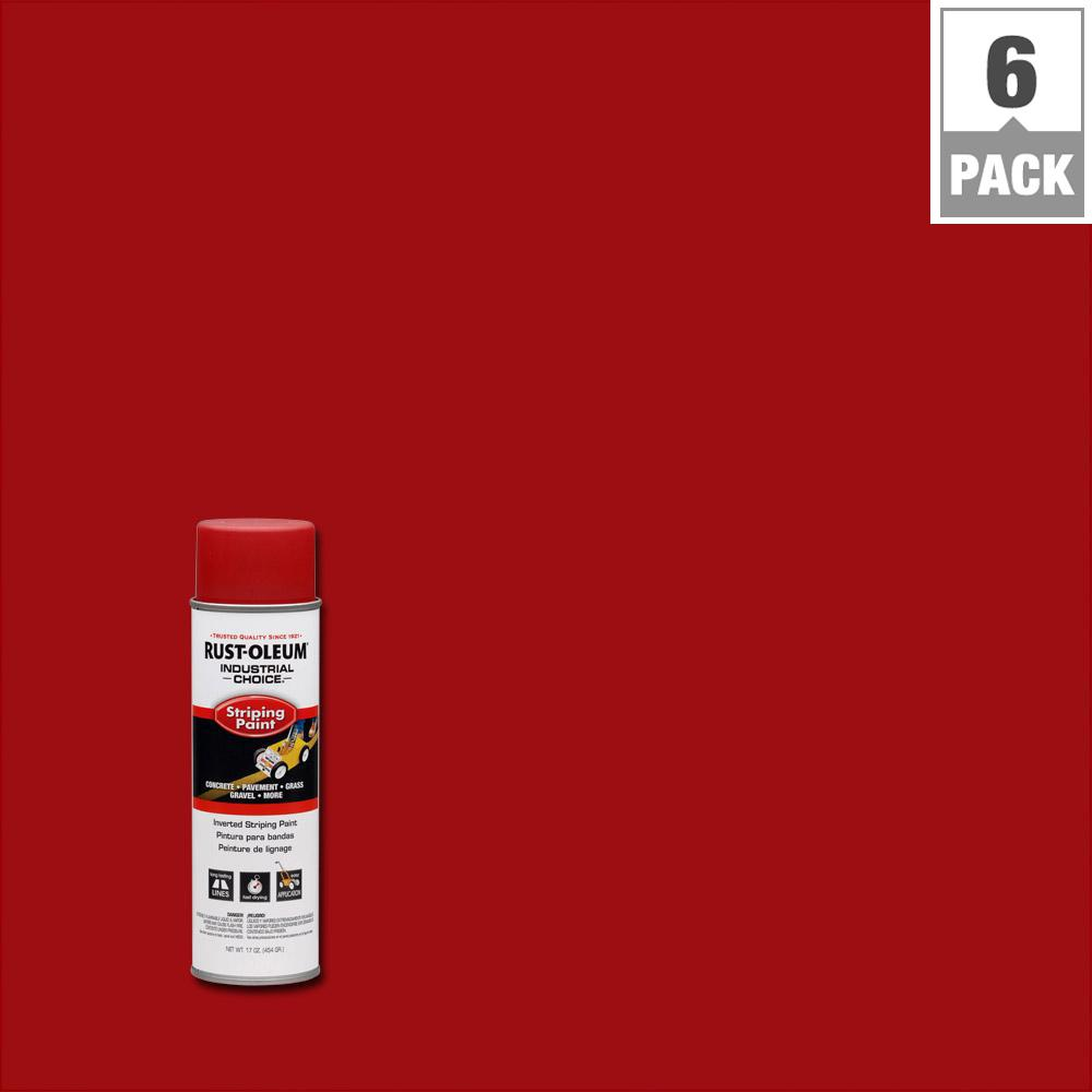 18 oz. S1600 System Red Inverted Striping Spray Paint (6-Pack)