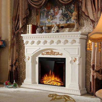 9 in. W 750-Watt to 1500-Watt Embedded Wall Mounted Insert Heater Glass Log Flame Electric Fireplace with Remote Black
