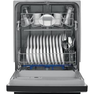 Frigidaire 24 in  Built-In Front Control Tall Tub Dishwasher in Black, 60  dBA