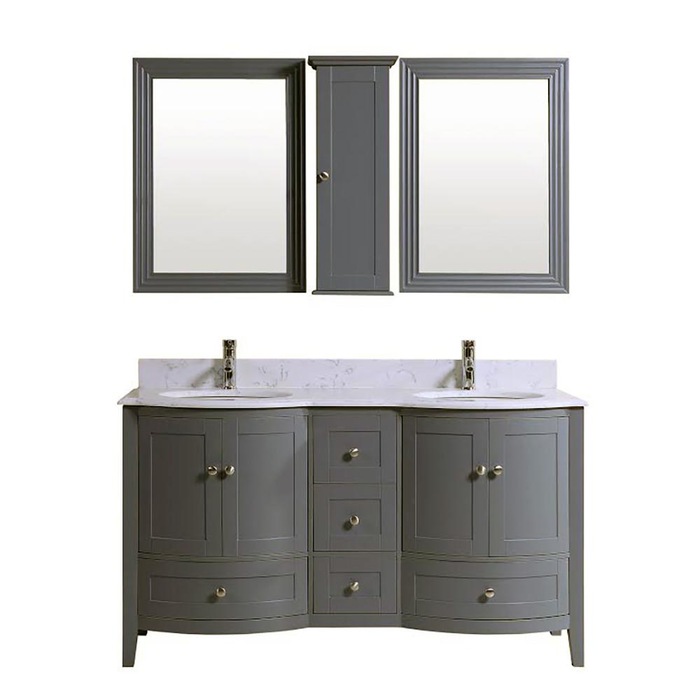 60 inch bathroom mirror 60 inch sink bathroom vanity cabinet grey with 15332