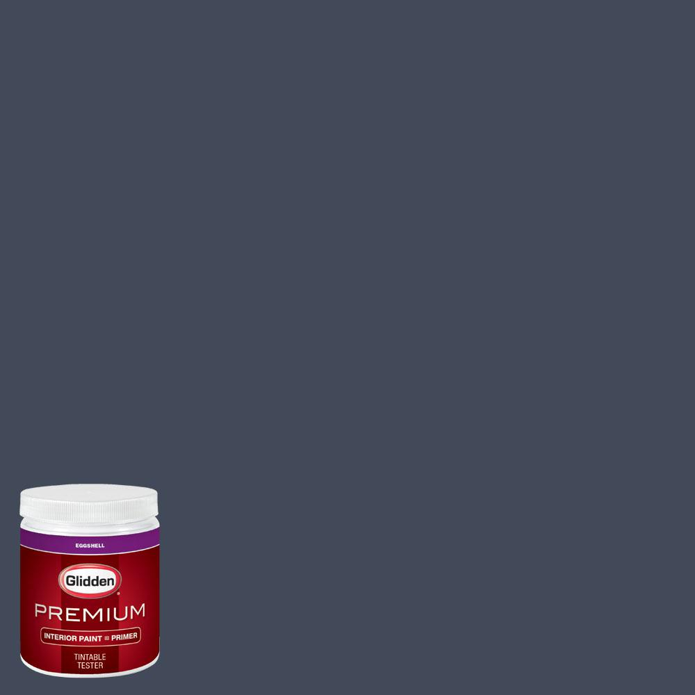 Glidden Premium 8 oz. #wnba-132D Atlanta Dream Navy Eggshell Interior Paint with Primer