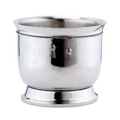 6.25 qt. Stainless Steel Double-Walled Wine Cooler with Tie Knot