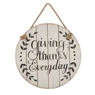 15.00 in. Wooden Thanksgiving Wall Sign