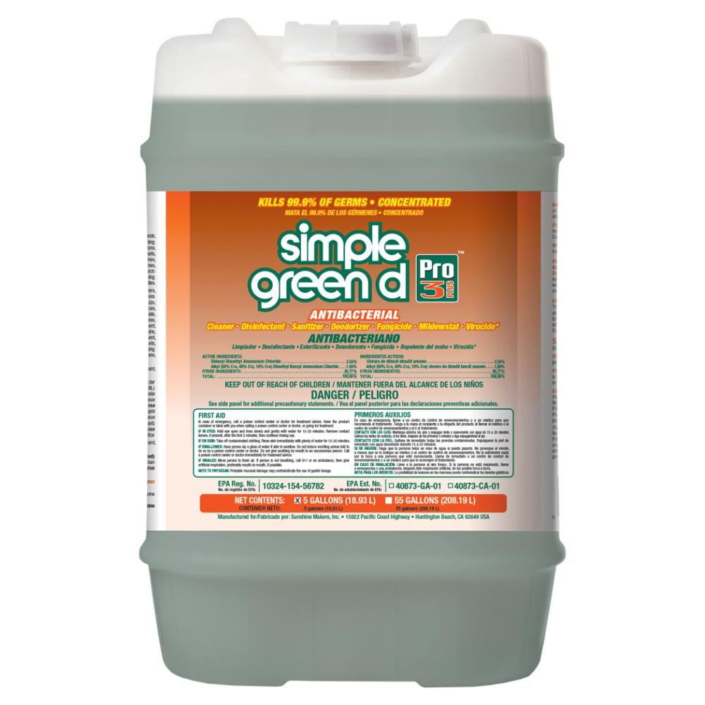 Simple Green 5 Gal. d Pro 3 Plus Antibacterial Concentrate