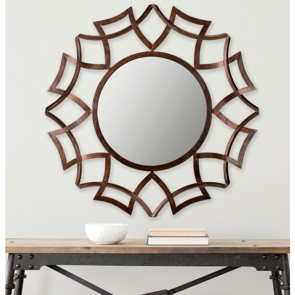 Safavieh Inca Sunburst 35 in. x 35 in. Iron Framed Mirror