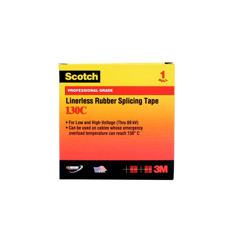 3M Scotch 3/4 in. x 30 ft. Linerless Rubber Splicing Tape