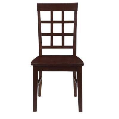Kinston Espresso Window Pane Dining Chairs (2-Count)