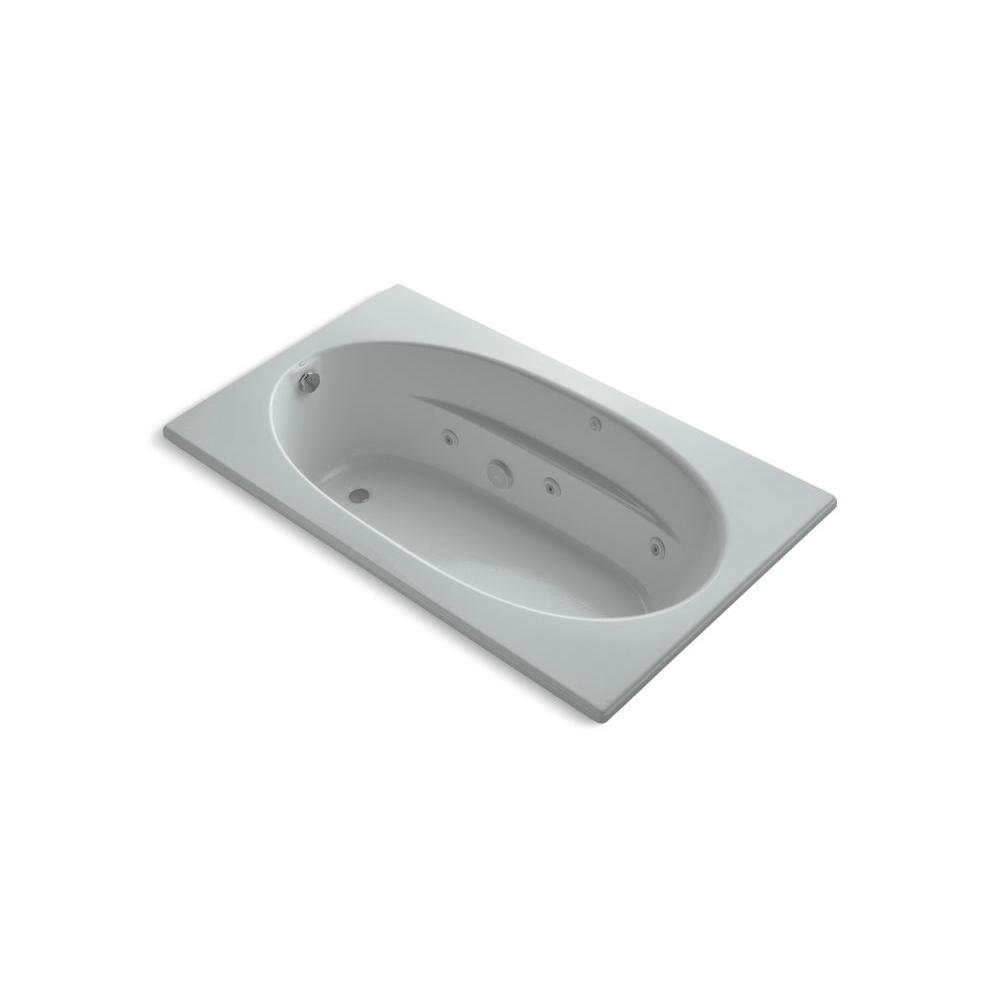 KOHLER Windward 6 ft. Whirlpool Tub in Ice Grey-DISCONTINUED