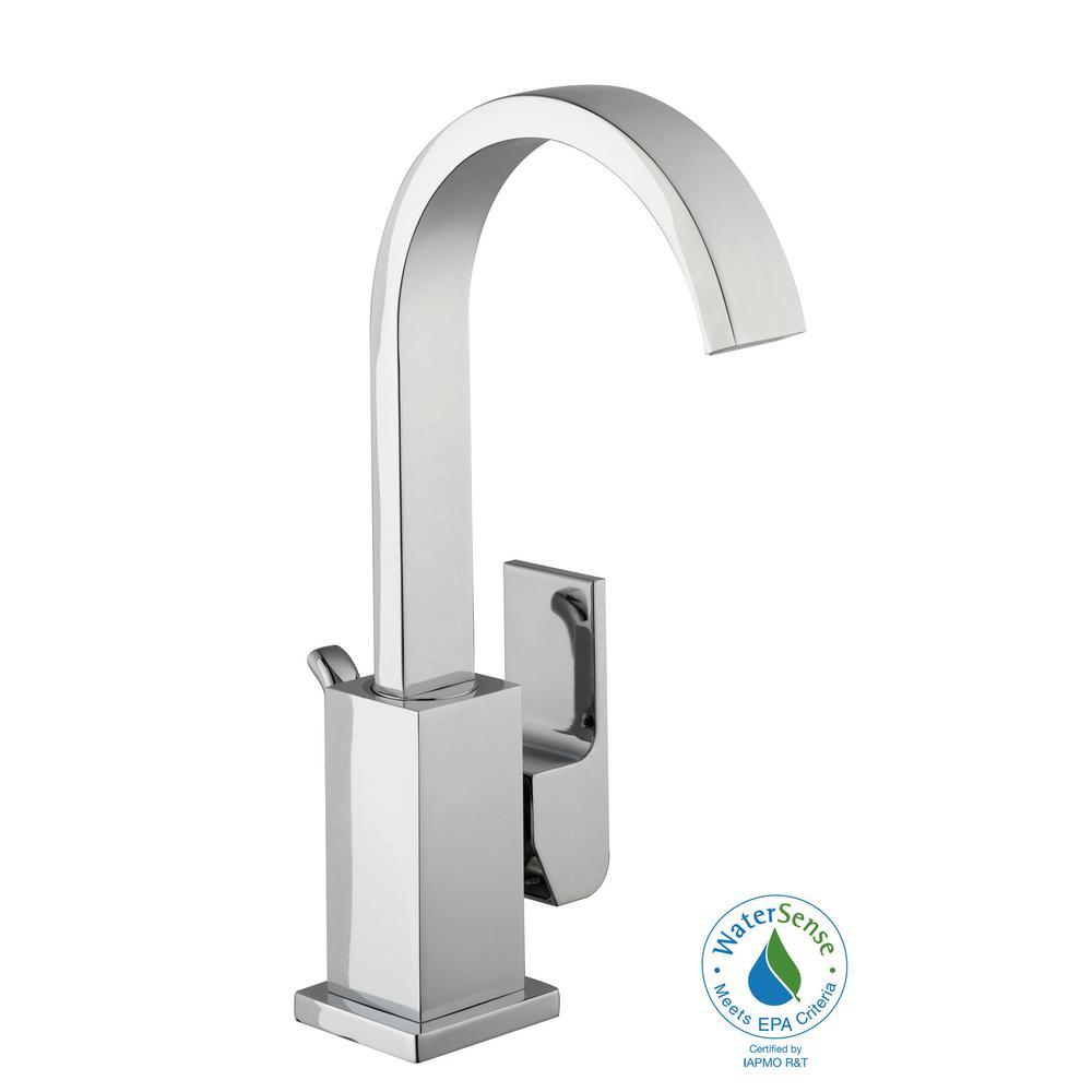 Farrington Single Hole Single-Handle High-Arc Bathroom Faucet in Chrome