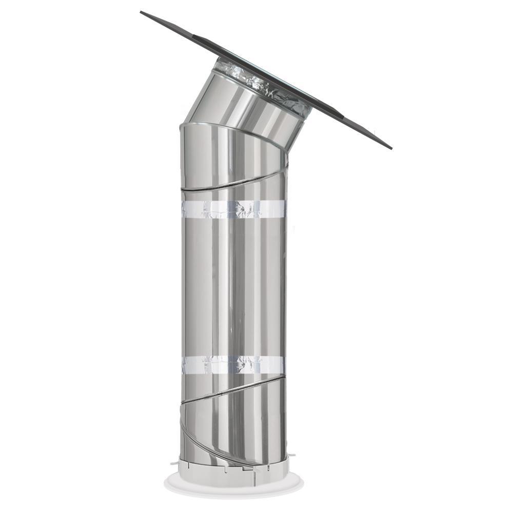 14 in. Flat Glass SUN TUNNEL Tubular Skylight with Rigid Tunnel and Low Profile Flashing