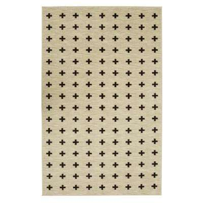 Sahana Black and White 8 ft. x 10 ft. Indoor Area Rug