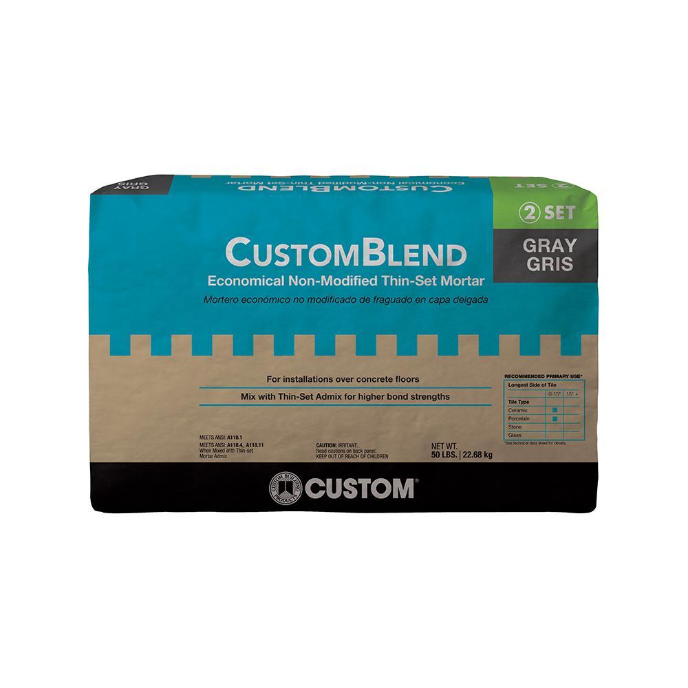Custom Building Products CustomBlend Gray 50 lbs. Standard Thinset Mortar