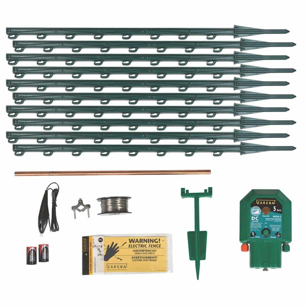 Garden Protector Battery Ed Electric Fence Kit
