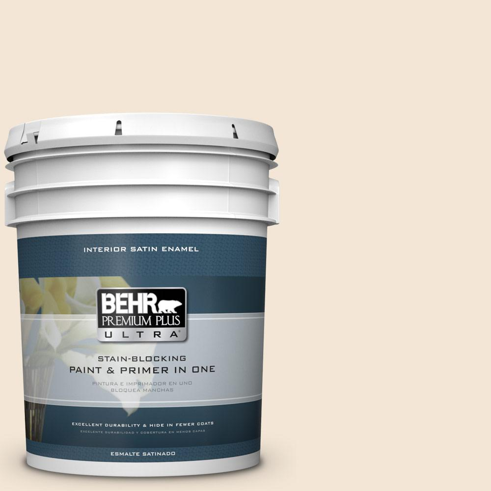5 gal. #HDC-FL14-1 Spooky Ghost Satin Enamel Interior Paint
