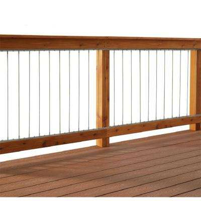 Vertical Stainless Steel Cable Railing Kit For 42 In High Railings
