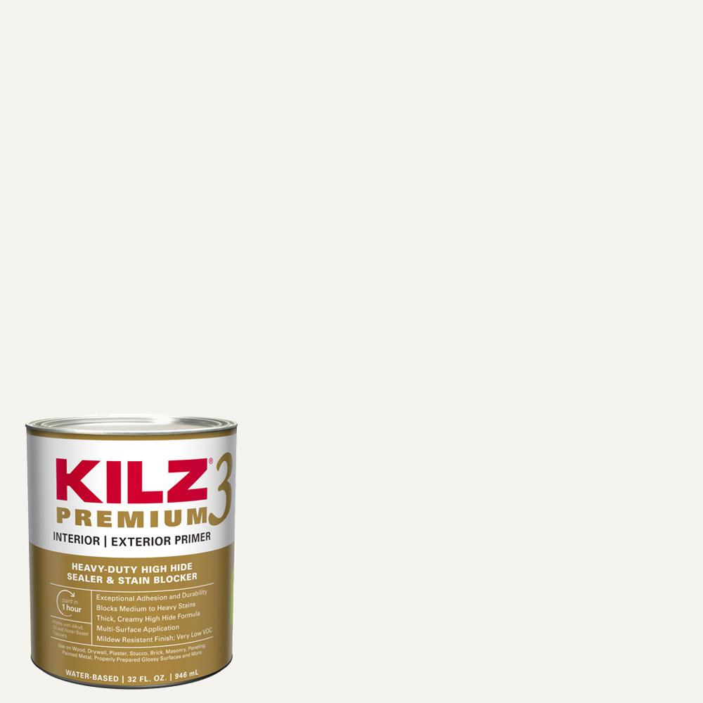 1 qt. PREMIUM White Interior/Exterior Primer, Heavy-Duty High Hide Sealer and