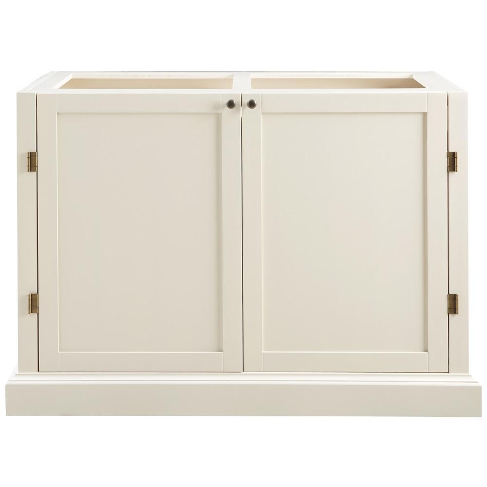 Home Decorators Collection Prescott Polar White Modular 2 Shelf Pantry Base