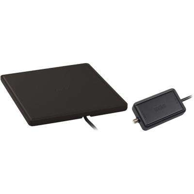Home Theater Style Multi-Directional Digital Flat Amplified Antenna, Black