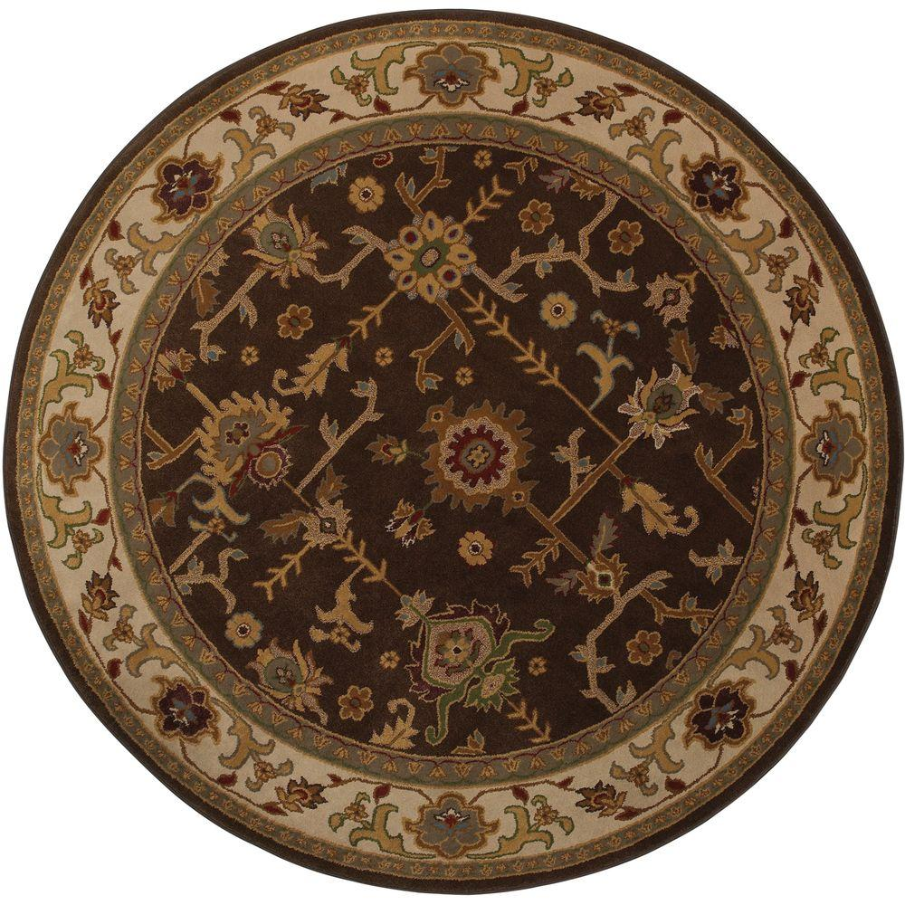 Mohawk Home Taba Brown 8 ft. Round Area Rug