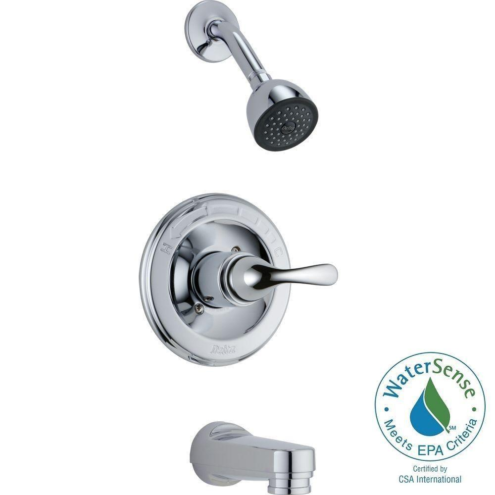 Delta Clic 1 Handle Tub And Shower Faucet Trim Kit In Chrome Valve Not