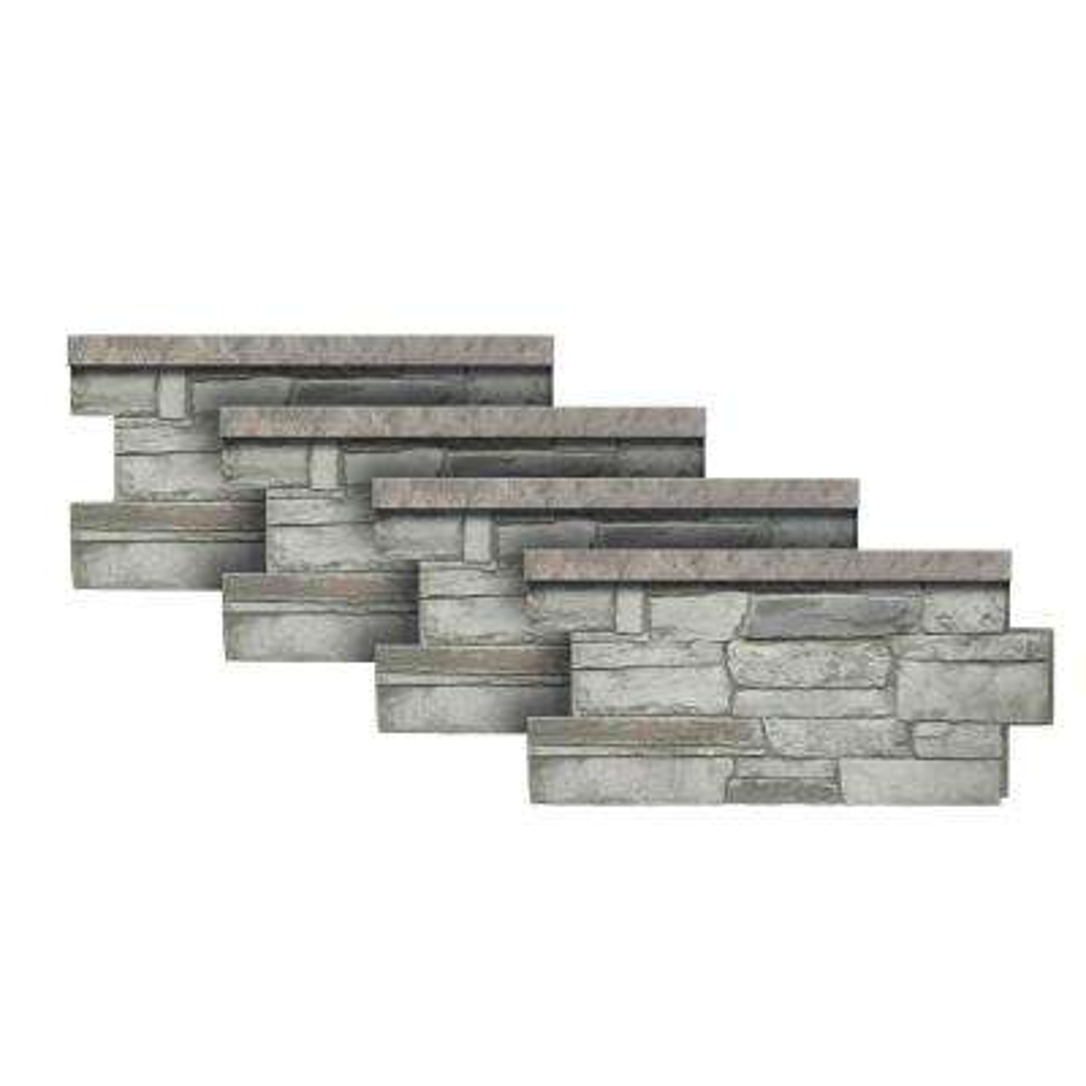 Ledgestone Wainscot #60 Cascade Canyon 48 in. x 24 in. Stone Veneer Panel (4-Pack)