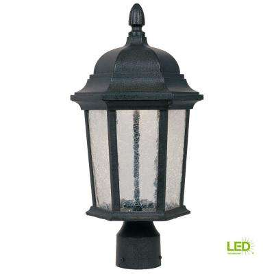 Abbington Driftwood Outdoor LED Post Lantern