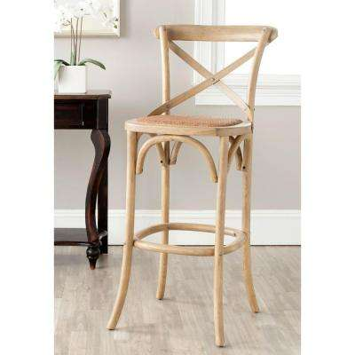 Safavieh Franklin 30.7 inch Weathered Oak Bar Stool by Oak Bar Stools