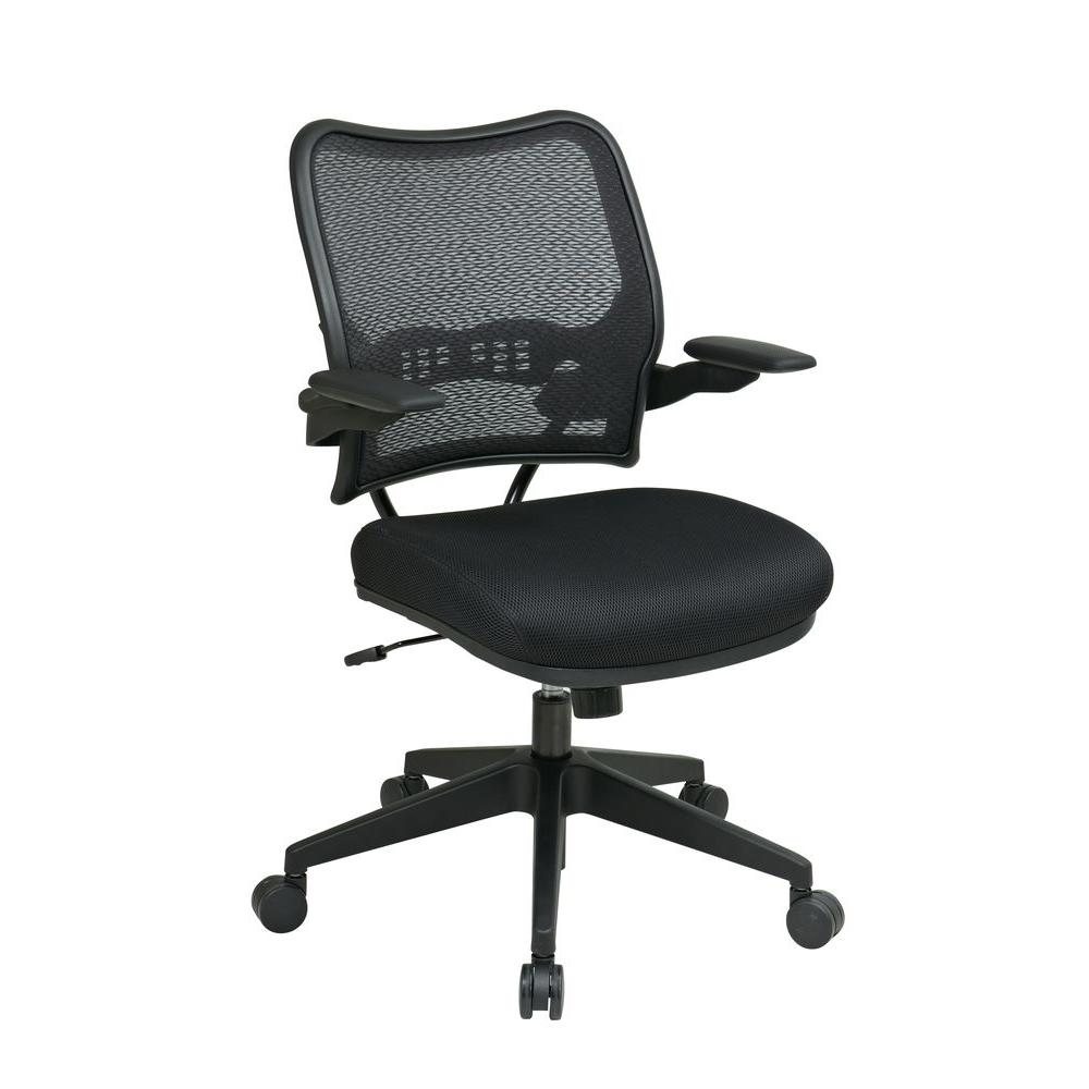 Space Seating Black AirGrid Back Office Chair