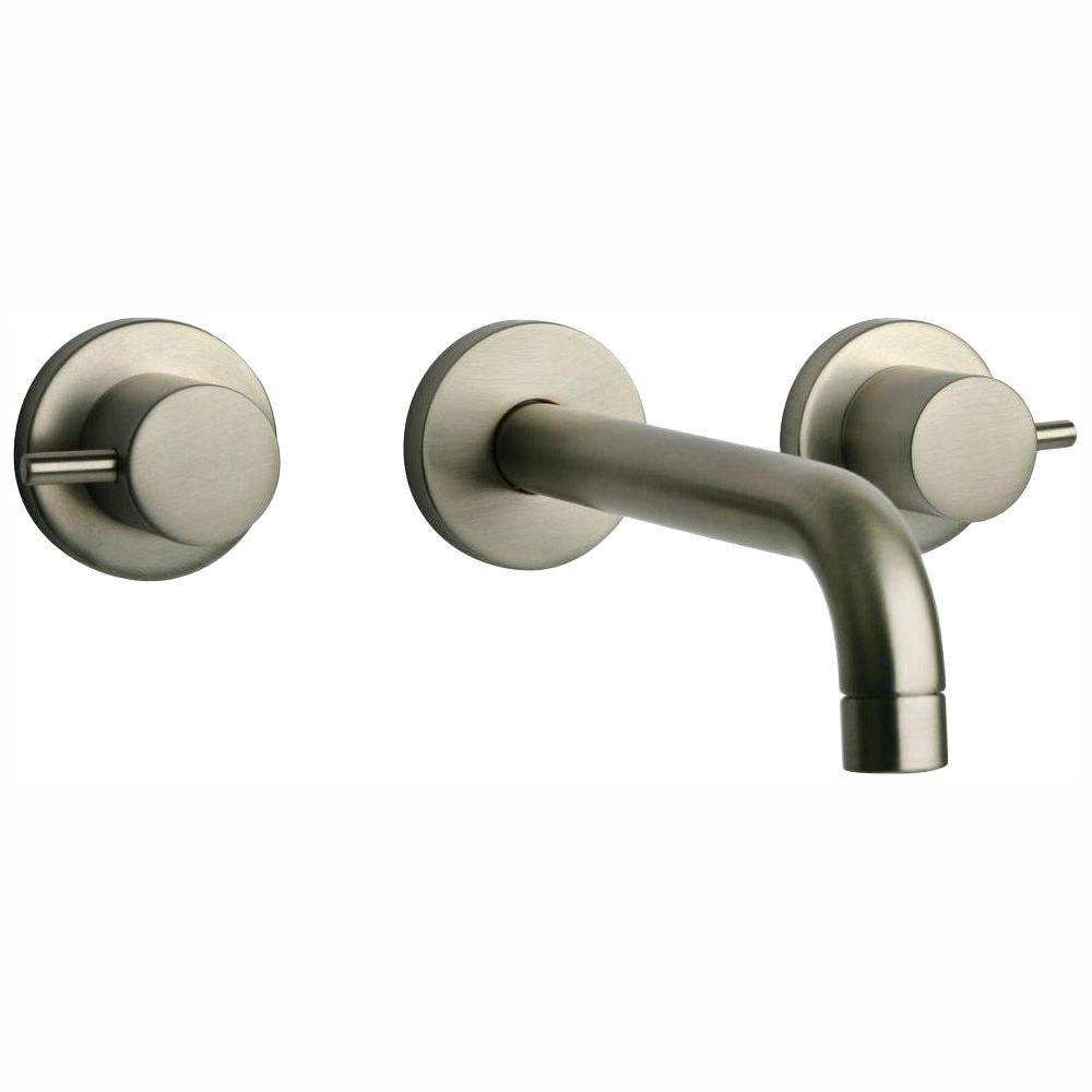 Elba 8 in. 2-Handle Mid-Arc Bathroom Faucet in Brushed Nickel