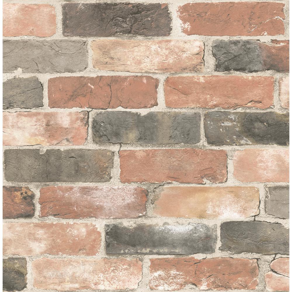Rustin Red Reclaimed Bricks Wallpaper
