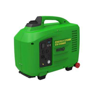 Energy Storm 3200-Watt 150cc Gasoline Powered Electric/Remote Start Digital Inverter Generator, Electronic Fuel I
