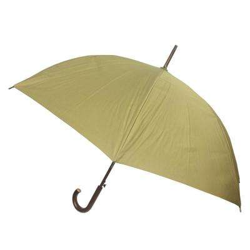 48 in. Arc Canopy Auto Open Stick Umbrella in Tan