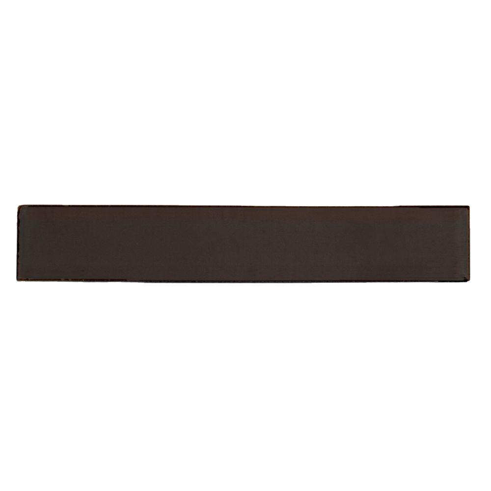Solistone Hand Painted Carbon Black 1 In X 6 Ceramic Pencil Liner