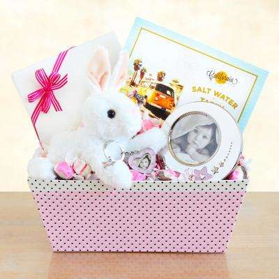 Welcome Baby Bunny and Picture Frame Gift Set for Girl