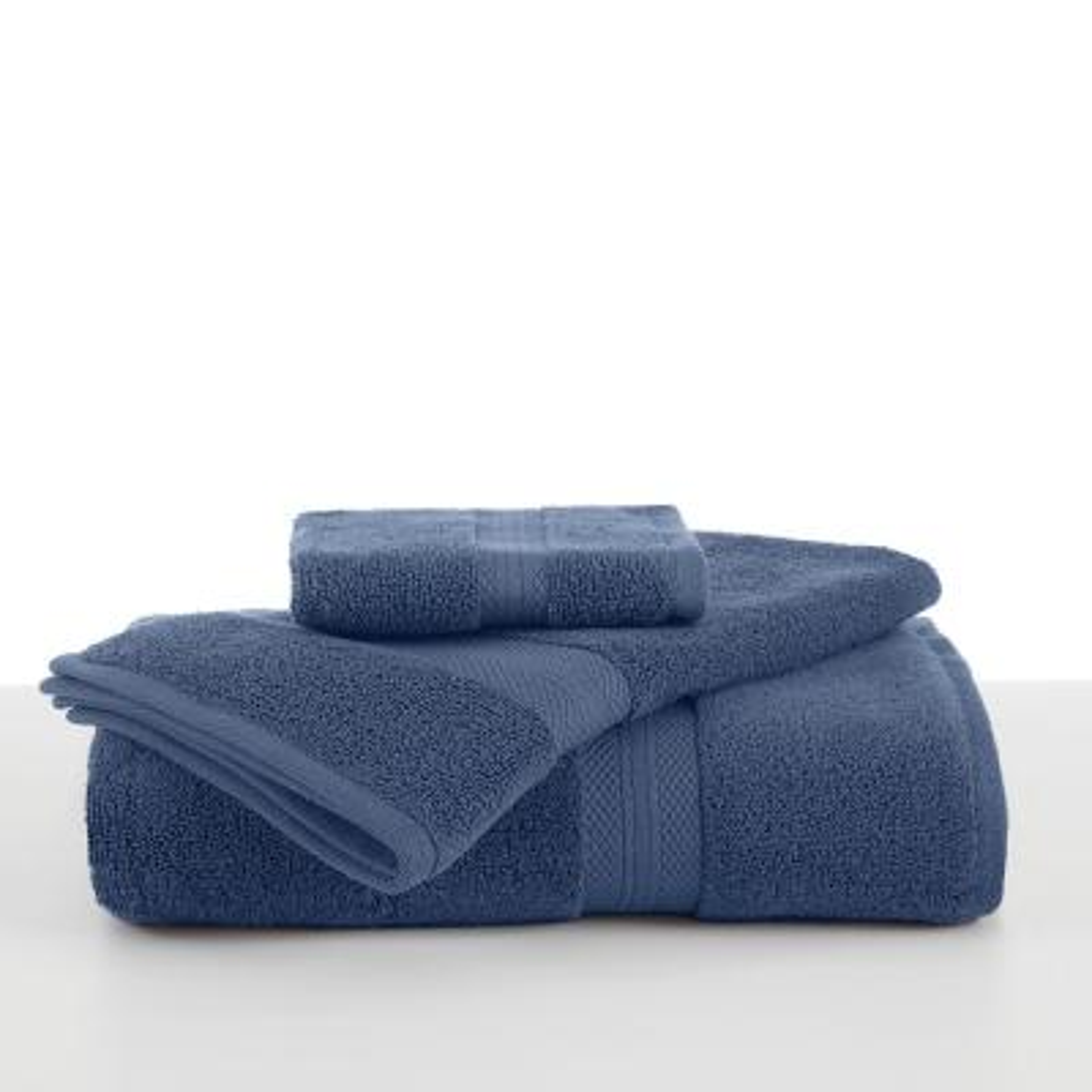 Abundance Cotton Blend  Bath Towel in Blue