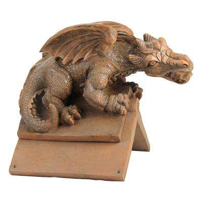 16.5 in. H Apex The Winged Dragon Sculptural Roof Cresting