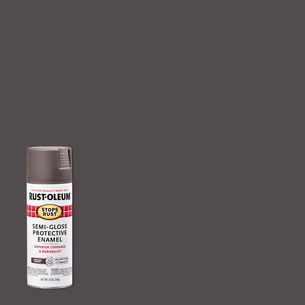 Rust-Oleum Stops Rust 12 oz. Protective Enamel Semi-Gloss Anodized Bronze Spray Paint (6-Pack)