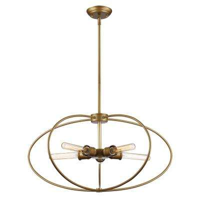 Robinson 5-Light Antique Gold Pendant