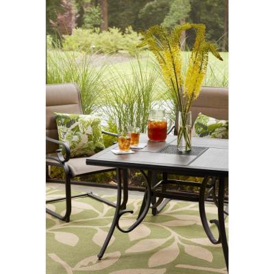 Crestridge Steel Square Outdoor Patio Dining Table with Tile Top